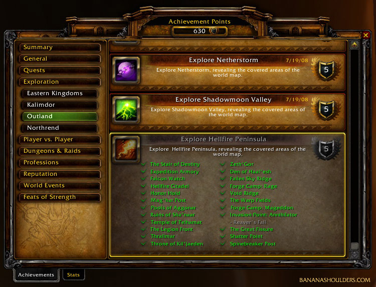 Achievements UI